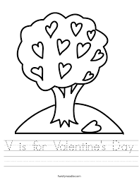 V is for Valentine's Day Worksheet - Twisty Noodle