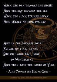 Through The Looking Glass Quotes Gorgeous Graphic Inspired By The Alice Through The Looking Glass Rhyme Poem
