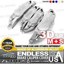 3D Universal Style Disc Brake Caliper Cover <b>Front</b> and Rear <b>4 pcs</b> ...