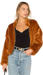 faux fur furry er jacket