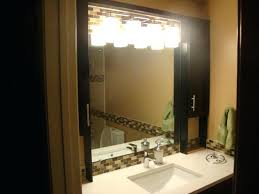 bathroom mirror with lights built in. mirror with built in led lights lighting design ideas bathroom mirrors and bricks ceramic accent middle o