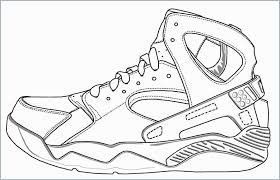 Inspirational Jordan Tennis Shoes Coloring Pages Doiteasyme