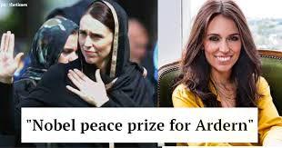 Image result for ardern nobel peace prize