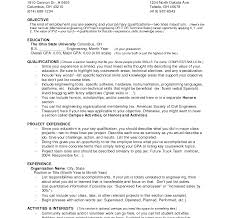 How To Make A Resume With No Work Experience Sample Job Resume With No Experience Unique Work Template Stirring 95