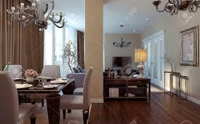 art deco living room. Antique And Art Deco Living Room. 3D Images Stock Photo - 47428235 Room A
