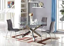 glass and chrome dining table chrome dining table and chairs magnificent vogue large round chrome glass