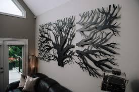 laser cut 3 panel tree design wall decor