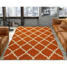 swingeing 5 x 7 area rugs ultimate gy contemporary trellis design orange 5 ft x 7