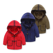 baby boy winter jackets 2017 kids clothes Leather button rope toddler jacket wood single breasted childre outwear