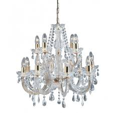 marie therese large chandelier gold brass crystal