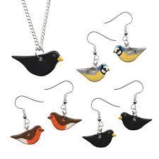 new garden bird pendant necklaces and drop earrings spring fair 2019 the uk s no 1 gift home trade show
