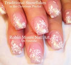 Easy Snowflake Nails | DIY Pink and White Glitter Nail Art Design ...