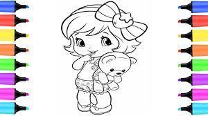 Vẽ và tô màu Búp bê đáng yêu | How to draw and color Doll | dạy bé vẽ | Đồ  chơi trẻ em - YouTube