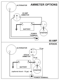 car ammeter wiring diagram wiring diagram automotive ammeter wiring image about