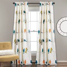 Lush Dcor Rowley Birds Room Darkening Window Curtain Panel Set - Free  Shipping Today - Overstock.com - 23073603