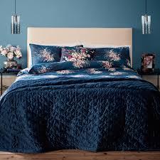 tesco bedding navy bouquet double duvet set