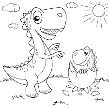 The coloring pages are printable and can be used in the classroom or at home. Coloring Pages Dinosaurs Large Collection Print For Free
