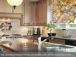 golden rustic granite countertop design concept