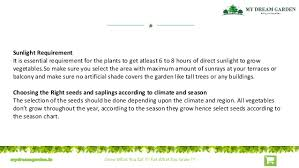 Vegetable Sunlight Requirement Chart How To Grow Fresh Organic Vegetables And The List Of Tools