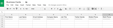 business card excel template how to scan business cards into a spreadsheet