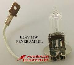 H3 6VOLT 25WATT EL FENERİ LAMBASI H3 6V 25W EL FENERİ AMPULU Fiyatı ve  Özellikleri - GittiGidiyor