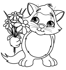 Cool Design Ideas Flower Coloring Pages For Kids Page Printable ...