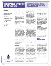 Undergraduate Application And Instructions Suny Institute