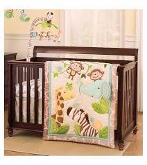 com just born animal kingdom 3 piece crib bedding set baby
