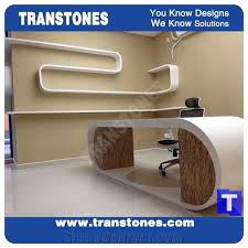 Modern office table Reception Modern Office Desk Executive Office Table Set Acrylic Solid Surface White Marble Artificial Stone For Office Furnitureinterior Stone Tactacco Modern Office Desk Executive Office Table Set Acrylic Solid Surface