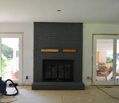 painting a brick fireplace makeover how to image of gloss white home decorating blogs