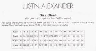 Justin Alexander Size Chart Masako Formals Hawaii