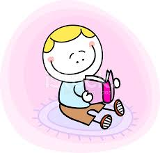 happy cute litte boy kid reading book cartoon ilration