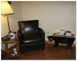 black leather of comfy chairs for small spaces with unique table and table lamp