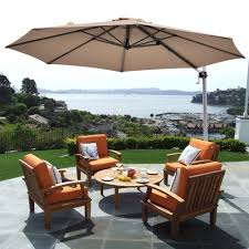Costway 11' Patio Cantilever Offset Umbrella <b>360 degrees Rotation</b> ...