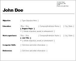 Resume Setup Example Resume Template Ideas