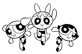 Small Picture Powerpuff Girls Coloring Pages For Kids Free Printable Coloring