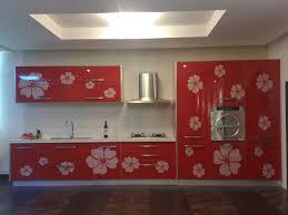 Red Cabinets In Kitchen Modern Big Kitchen Design Ideas With Red Cabinet Design Mybktouch