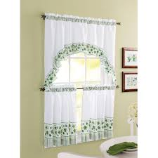 Sunflower Curtains For Kitchen Better Homes And Garden Embroidered Butterfly Window Kitchen