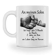 Galeriemode Tasse Geschenk Zur Geburt Mit Spruch Sohn Mama Familie