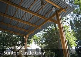 weather protection shade for outdoor living or storage corrugated polycarbonate roof panel tuftex
