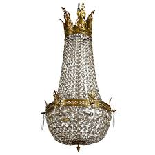 french empire style bronze and crystal chandelier for