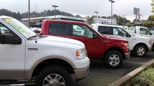 Ford F 150 Pickup Trucks Sit On The Sales Lot At Serramonte Ford On February