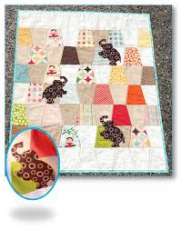 Free Charm Pack Quilt Patterns - U Create & Elephant Baby Quilt Tutorial by Happy Dance Quilting Adamdwight.com