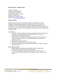 Best Solutions of Nail Tech Resume Sample For Worksheet