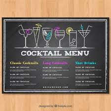 Chalkboard Menu Templates 23 Printable Premium And Free Drink Menu Templates Updated