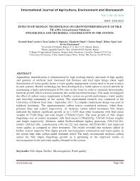 Pdf Effects Of Biofloc Technology On Growth Performance Of
