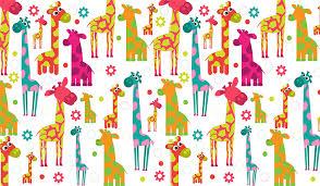 Cartoon Giraffes Wall Mural