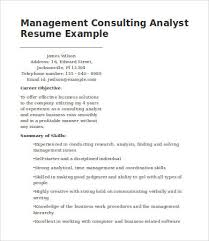 Consulting Resume Delectable 60 Management Consulting Resume Templates PDF DOC Free