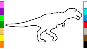 Small Picture Learn Colors for Kids with Dinosaur T Rex Coloring Pages YouTube