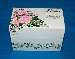 Decorative Recipe Box Decorative Recipe Box Personalized Recipe Card Box Custom 44